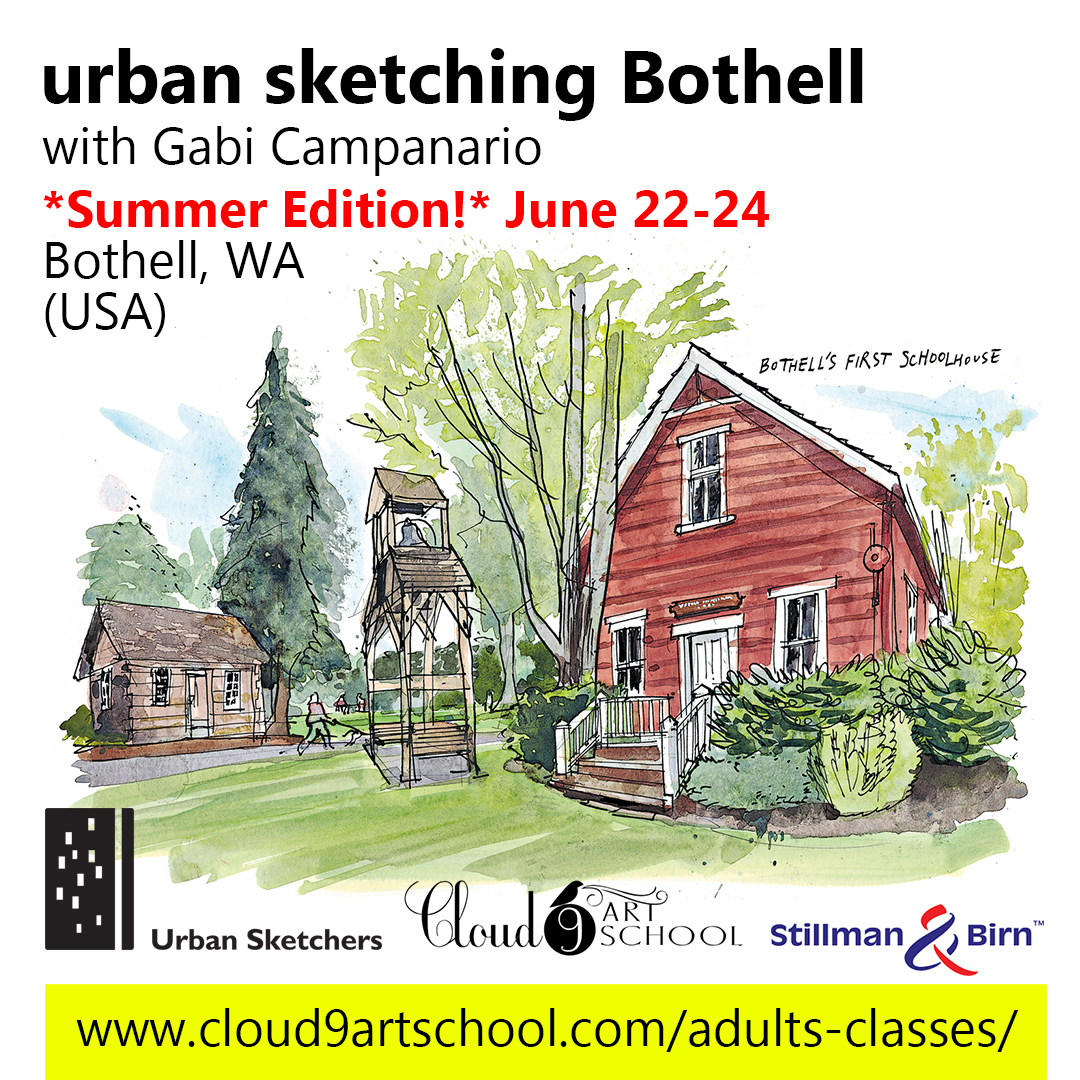 Urban Sketching Bothell Summer Edition with Gabi Campanario