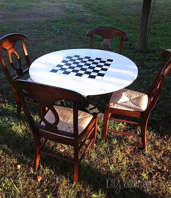 Diy Checkerboard Table Diy Beautify