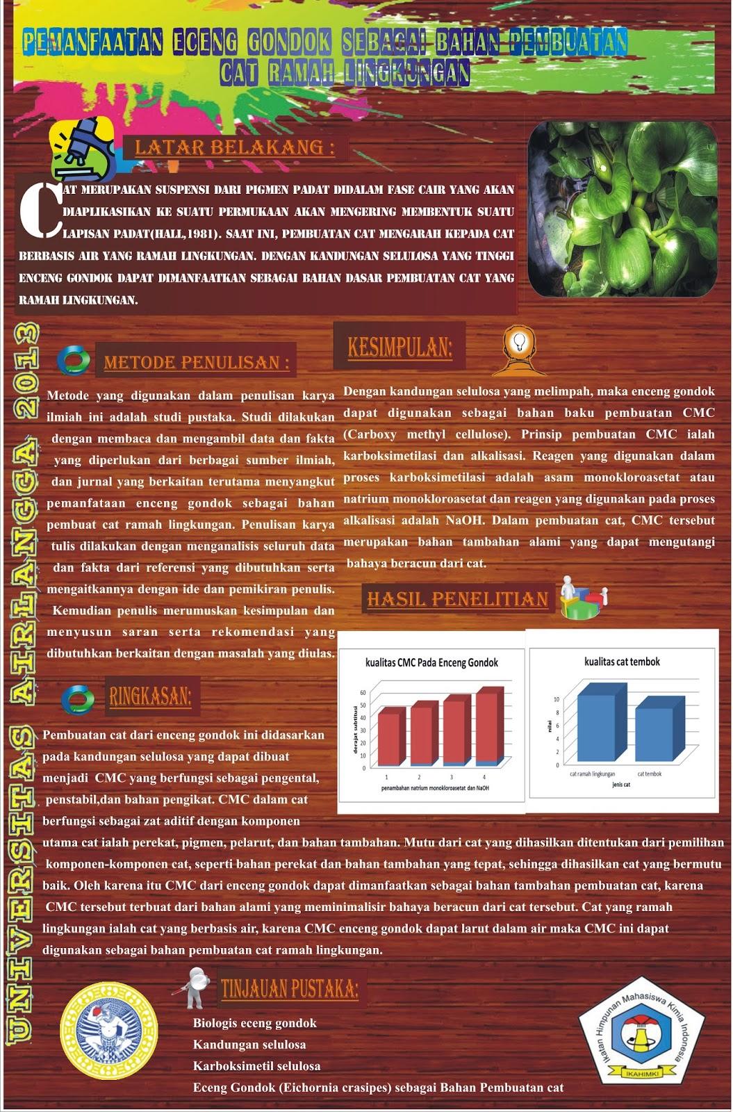 Poster Kompetisi Penelitian Kimia bapewil 4 Ikahimki ...