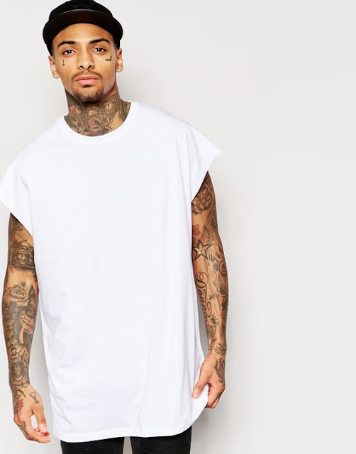 Camiseta Sleeveless Oversized Sem Manga