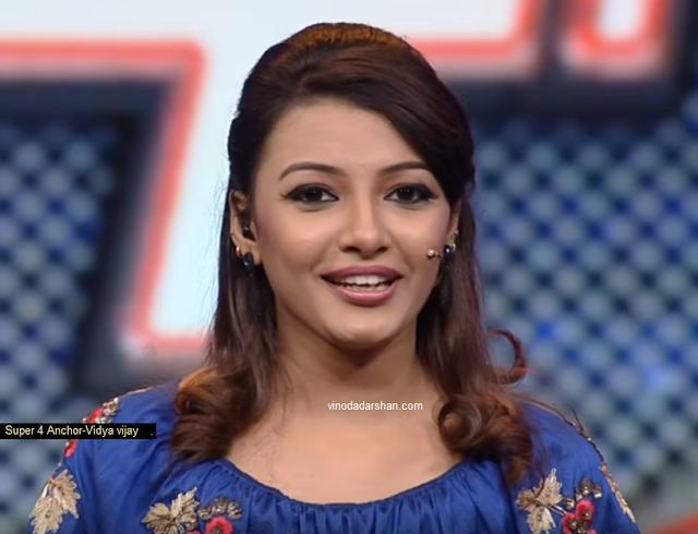 Vidya Vijay-Anchor of Super4 on Mazhavil Manorma
