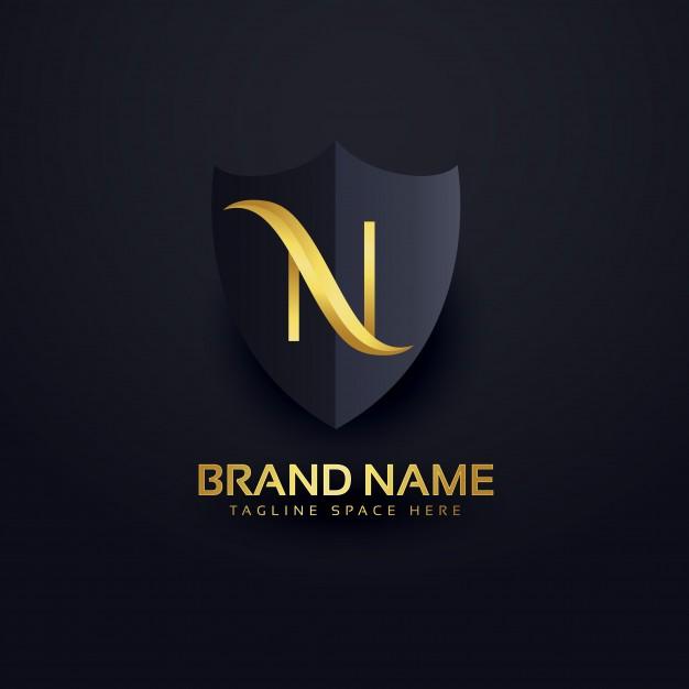 Letter n luxury logo Free Vector