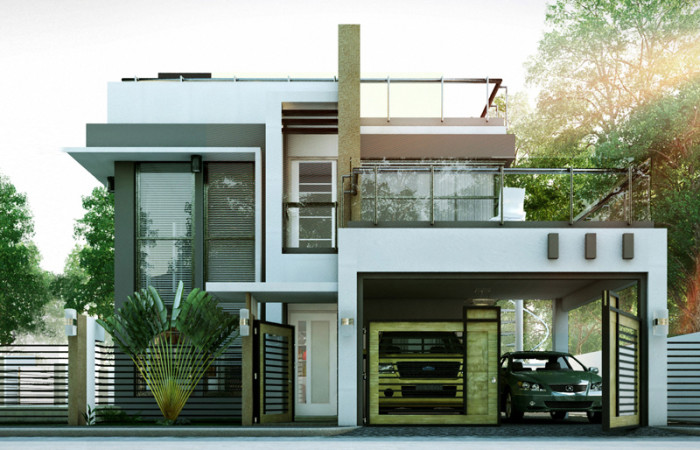 Marvelous Modern House Plans In The Philippines Part - 5: MODERN HOUSE DESIGNS SERIES: MHD-2014010