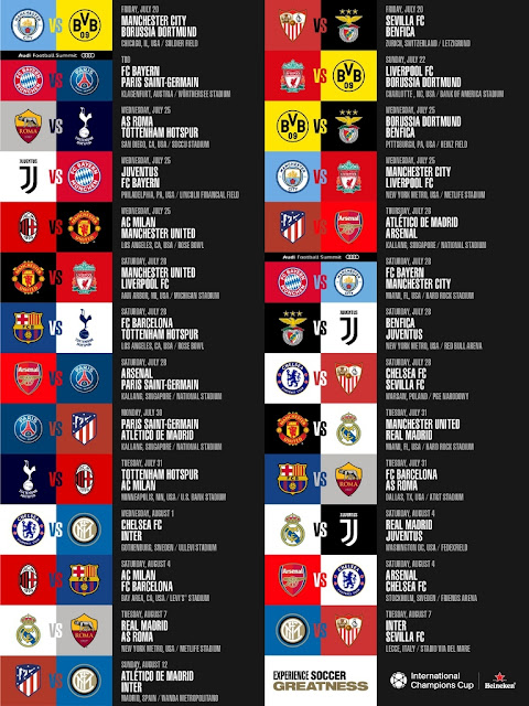 Jadwal Lengkap International Champions Cup 2018