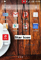 how to remove star icon android