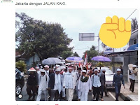 ALLAHU AKBAR!! Dipersulit Pakai Bis, 10 Ribu Massa Umat Islam Ciamis JALAN KAKI Ke Jakarta Aksi 212