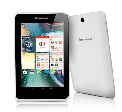 Lenovo A7-50 A3500 Specifications - LAUNCH Announced 2014, April Versions Lenovo A3500-F - Wi-Fi only (Mediatek MT8381) Lenovo A3500-H - Wi-Fi + 3G (Data only) Lenovo A3500-HV - Wi-Fi + 3G (Voice) DISPLAY Type IPS LCD capacitive touchscreen, 16M colors Size 7.0 inches (~59.2% screen-to-body ratio) Resolution 800 x 1280 pixels (~216 ppi pixel density) Multitouch Yes BODY Dimensions 198 x 121.2 x 9.9 mm (7.80 x 4.77 x 0.39 in) Weight 320 g (11.29 oz) SIM Micro-SIM PLATFORM OS Android OS, v4.2.2 (Jelly Bean), upgradable to v4.4.2 (KitKat) CPU Quad-core 1.3 GHz Cortex-A7 Chipset Mediatek MT8382 GPU Mali-400MP2 MEMORY Card slot microSD, up to 32 GB (dedicated slot) Internal 8/16 GB, 1 GB RAM CAMERA Primary 5 MP Secondary 2 MP Features Geo-tagging Video Yes NETWORK Technology GSM / HSPA 2G bands GSM 850 / 900 / 1800 / 1900 3G bands HSDPA Speed HSPA GPRS Yes EDGE Yes COMMS WLAN Wi-Fi 802.11 b/g/n, Wi-Fi Direct, hotspot GPS Yes, with A-GPS USB microUSB v2.0 Radio FM radio Bluetooth v4.0 FEATURES Sensors Accelerometer, proximity Messaging SMS(threaded view), MMS, Email, Push Mail, IM Browser HTML5 Java No SOUND Alert types Vibration; MP3, WAV ringtones Loudspeaker Yes 3.5mm jack Yes BATTERY  Non-removable Li-Ion 3450 mAh battery Stand-by  Talk time  Music play  MISC Colors Blue  - MP3/WAV/WMA/AAC player - MP4/H.264 player - Document viewer - Photo viewer/editor