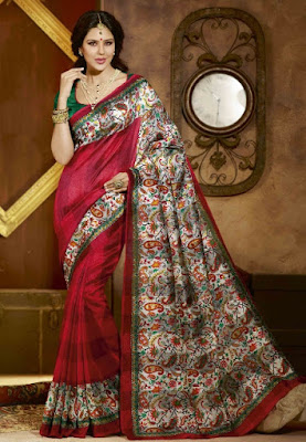Traditional-indian-banarasi-silk-saree-new-styles-for-girls-10