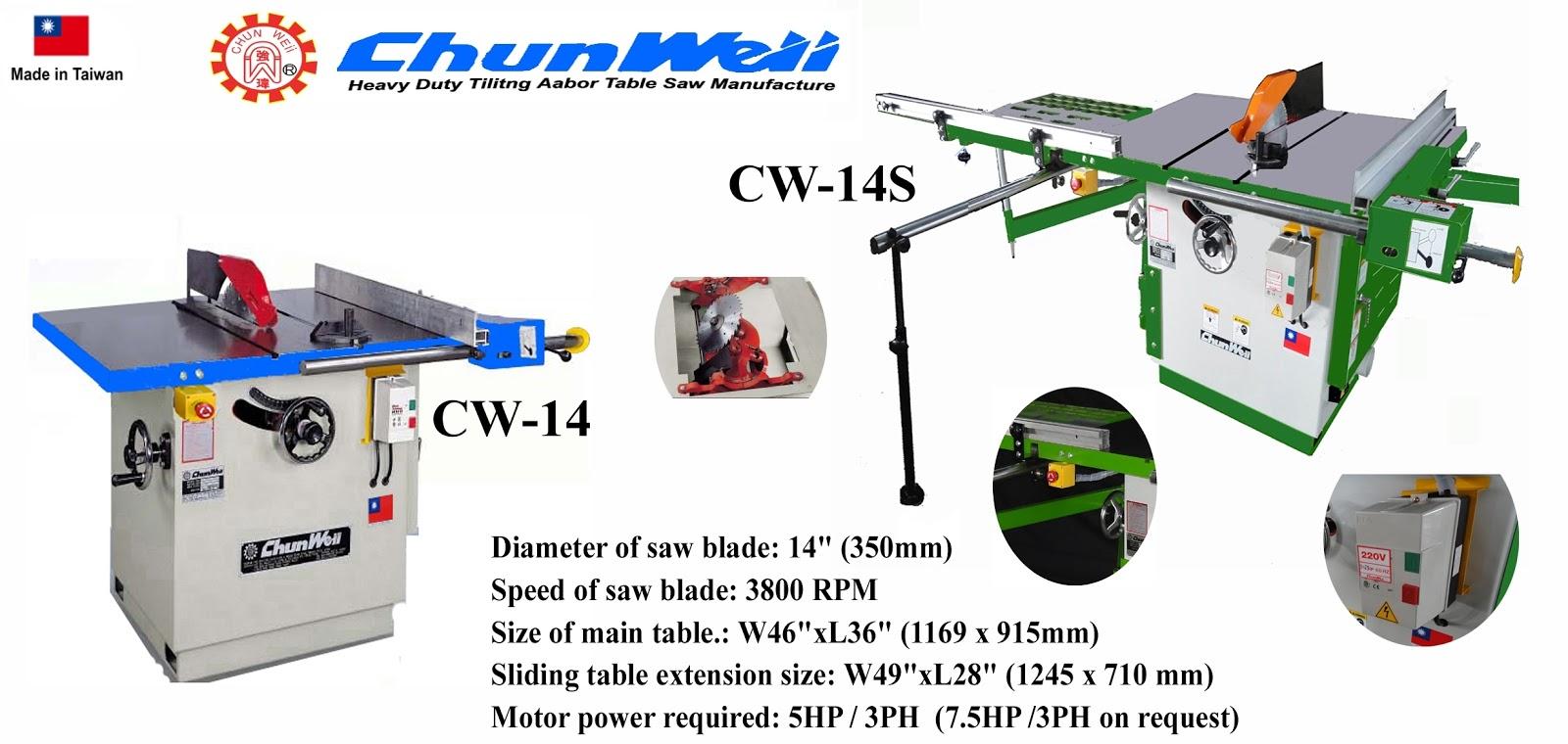 ... Table Saw From Taiwan (Woodworking Machinery ) ~CHUN WEii Machinery