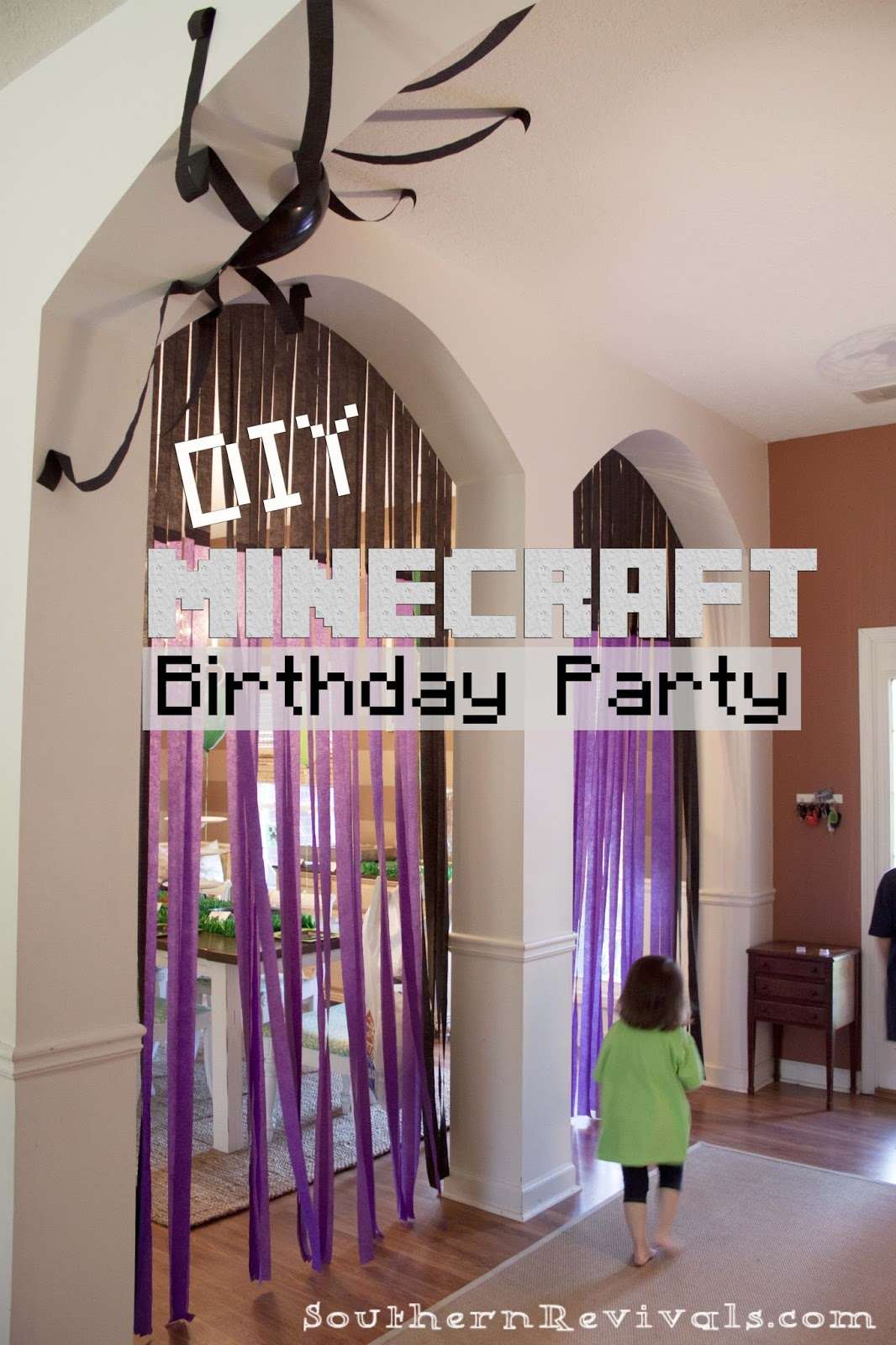 picture relating to Minecraft Birthday Banner Free Printable identified as Do-it-yourself Minecraft Birthday Social gathering - craft tips, celebration favors