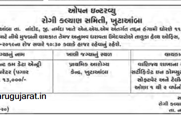 NHM Nandod (Narmada) Recruitment for Accountant cum Data Entry Operator Post 2019