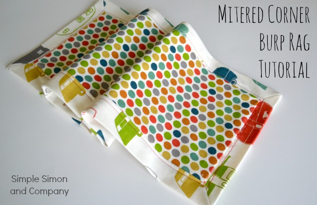 Mitered Corner Burp Cloth Tutorial Simple Simon And Company