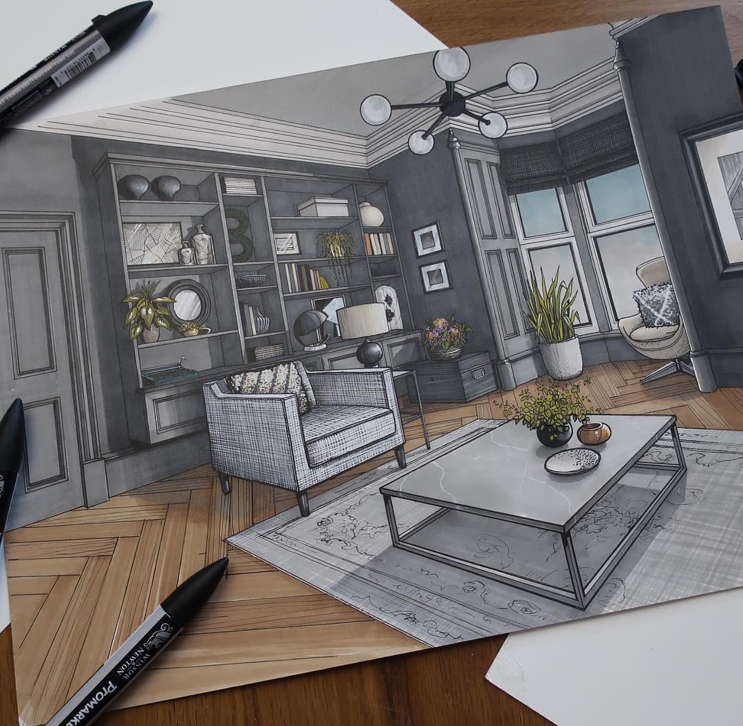 04-Living-Room-Malcolm-Begg-Interior-Design-Drawings-of-a-Victorian-House-www-designstack-co
