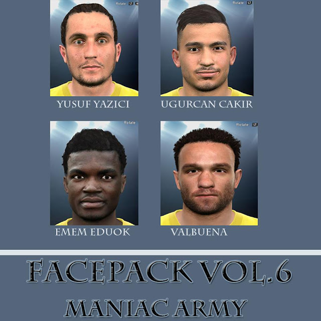 PES 2017 Holiday FacePack Vol. 6 by ManiaC Army FaceMaker