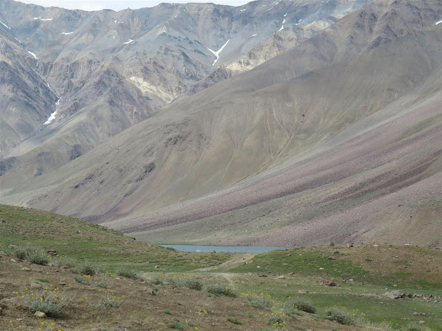 First glimpse of Chandrataal Lake