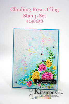 Climbing Roses stamp set, Stampin' Up!, Rick Adkins, Watercolor, Roses