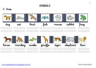 ANIMALS. I  LIKE - IDON'T LIKE 4 FICHAS