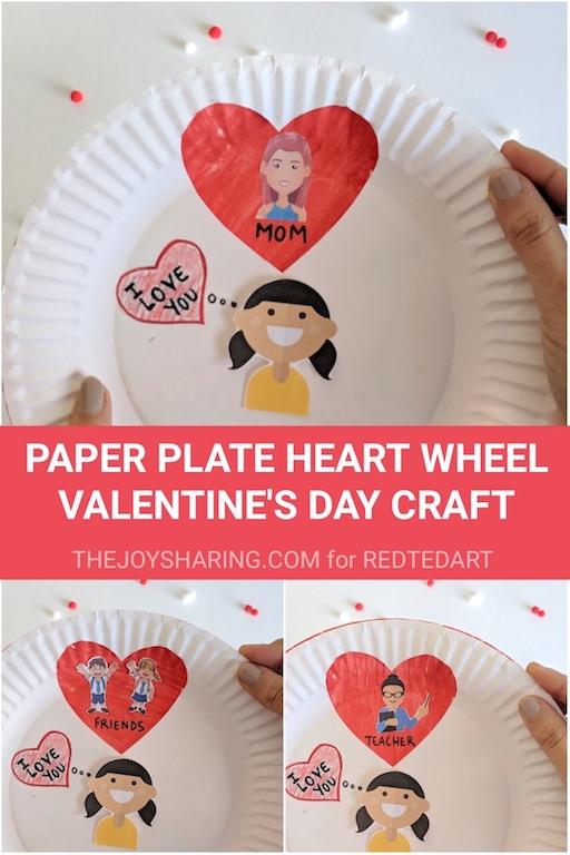 Valentine's Day Craft, Valentine's Day Gifts, Paper Craft, Paper Plate Craft, Preschool Crafts, Free printables, Kindergarten Craft