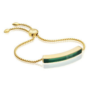 Modern Green Jewellery -  Monica Vinader Green Onyx Bracelet