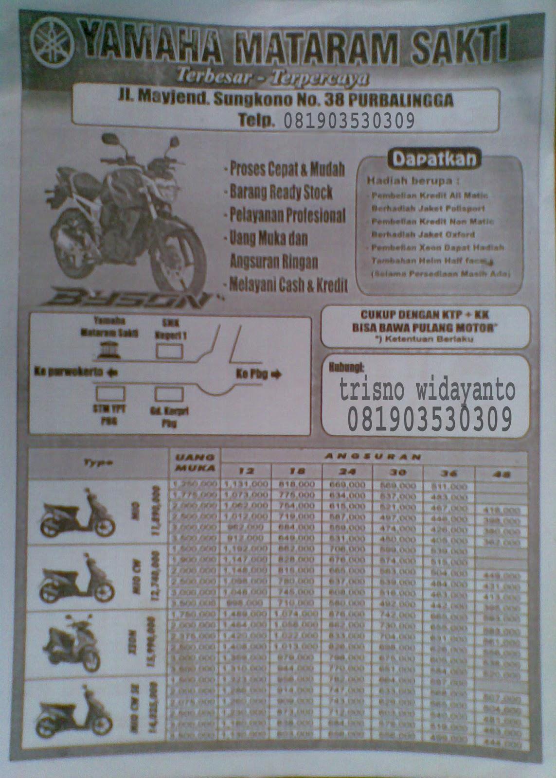 CARA KREDIT MOTOR DI YAMAHA MOTOR PURBALINGGA UPDATE TERBARU