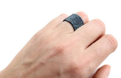 купить широкое кольцо женское темно-синее кольцо ручной работы интернет-магазин