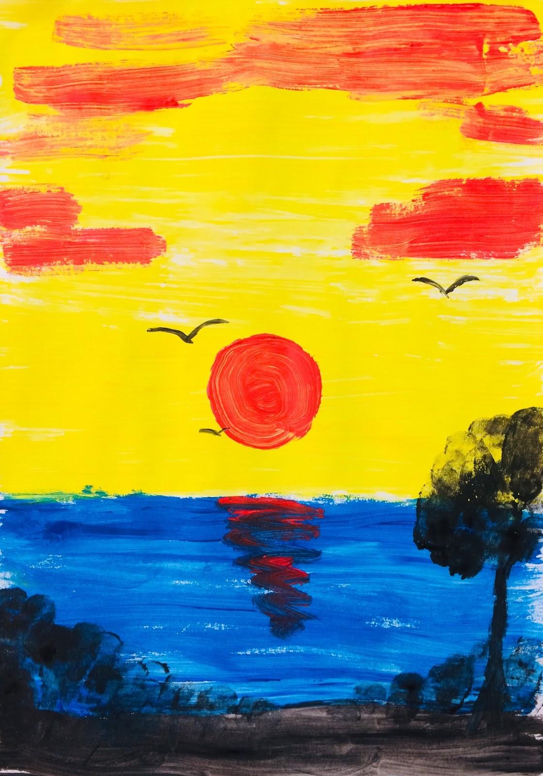 """Culorile primare: """"Apus de soare"""""""