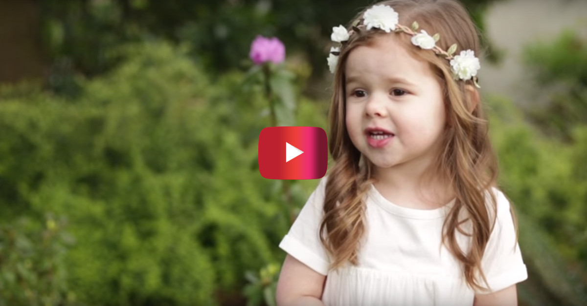 Catholic news world viral video of 3 year old girl singing viral video of 3 year old girl singing about jesus for easter with over 8 million views share negle Choice Image