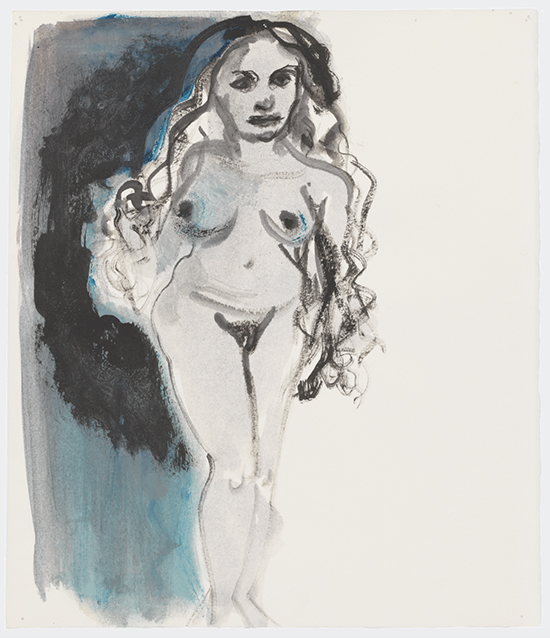 drawing Marlene Dumas The goddess Venus, 2015-2016