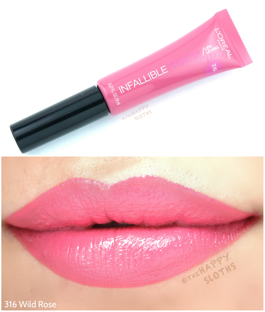 L'Oreal Infallible Lip Paints 316 Wild Rose