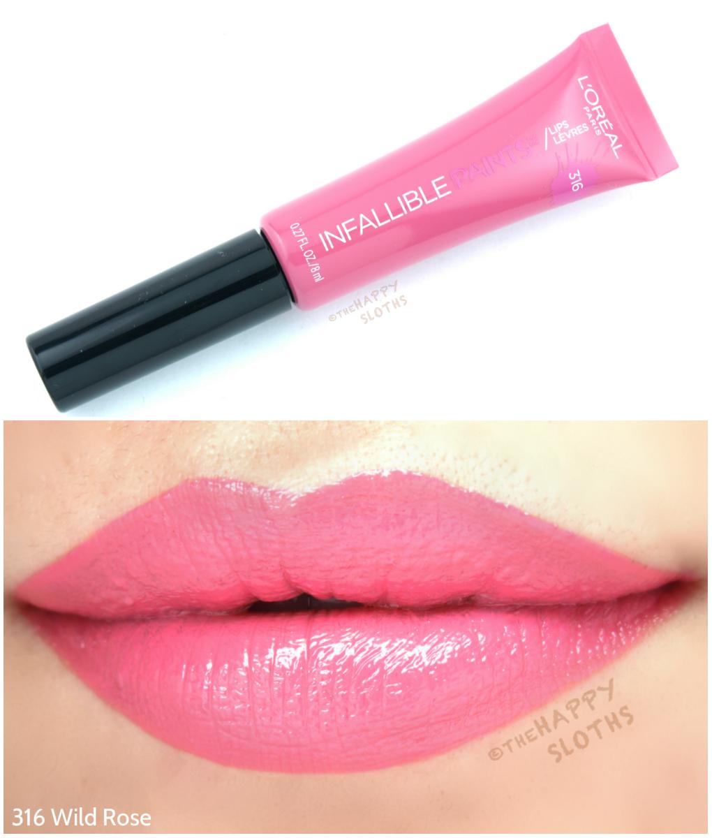 L'Oreal Infallible Lip Paints 316 Wild Rose