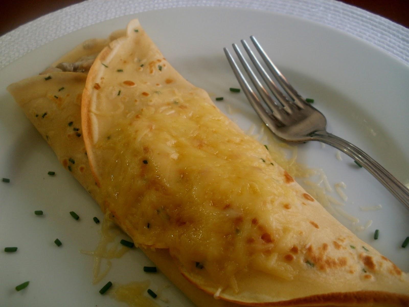 Crepes con pollo y champiñones