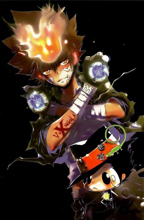 Sawada Tsuna Katekyo Hitman Reborn Naruto Sasuke Wallpaper