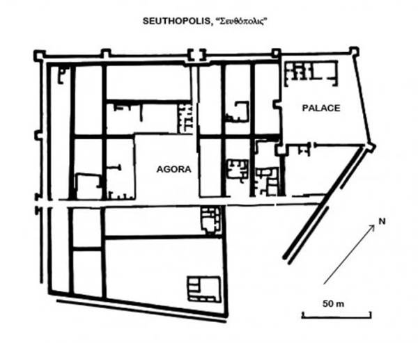 Plano de la ciudad de Seuthopolis.