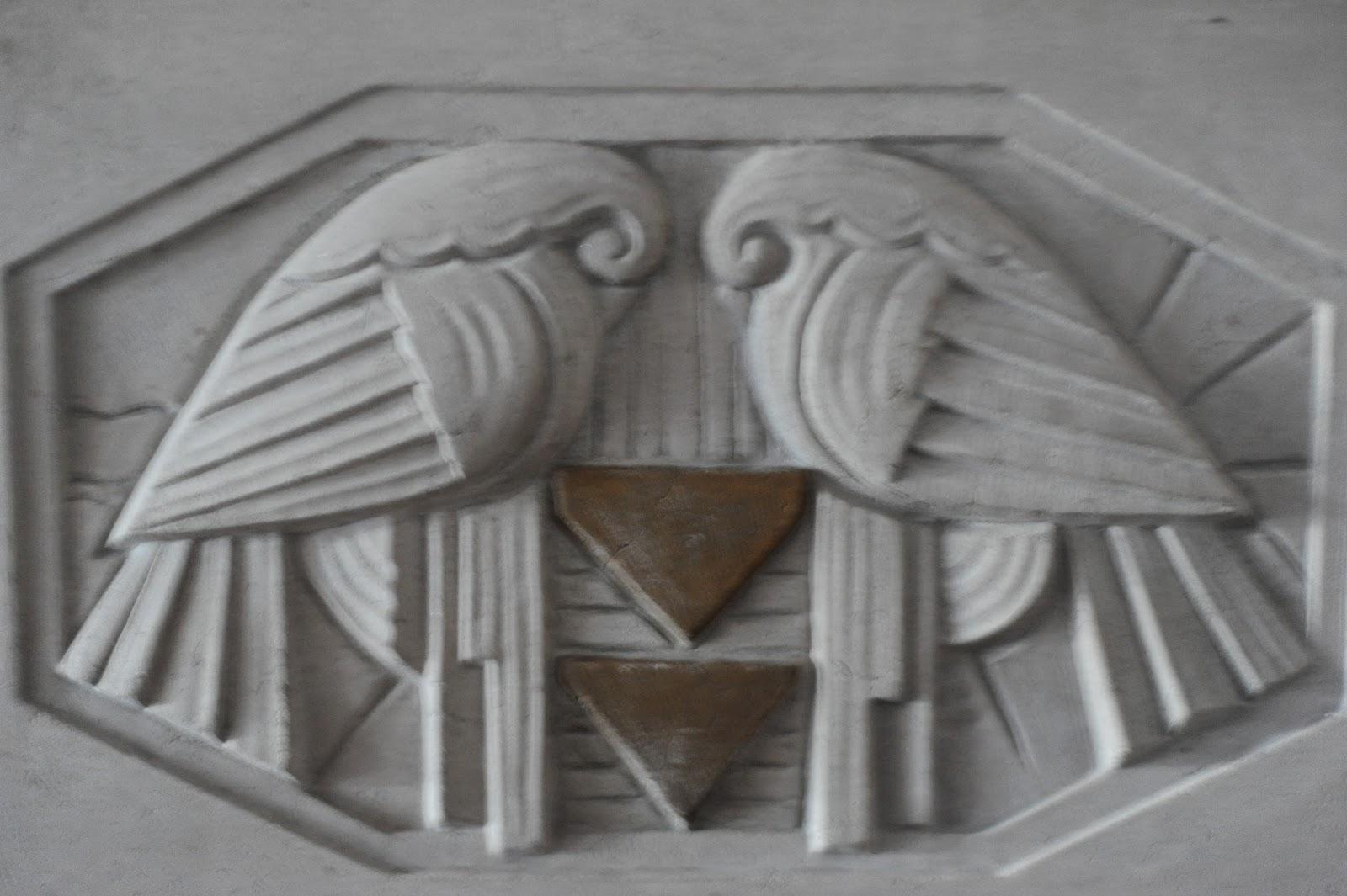 Birds reptiles hieroglyphics carved into sandstone stock photo
