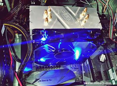 Gammaxx 400 sudah terpasang di motherboard socket AM4