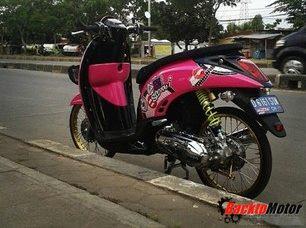 foto gambar modifikasi motor thailook style terbaru