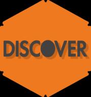discover hexagon icon