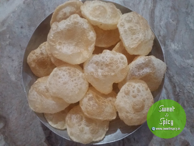 Luchi or Maida Puris