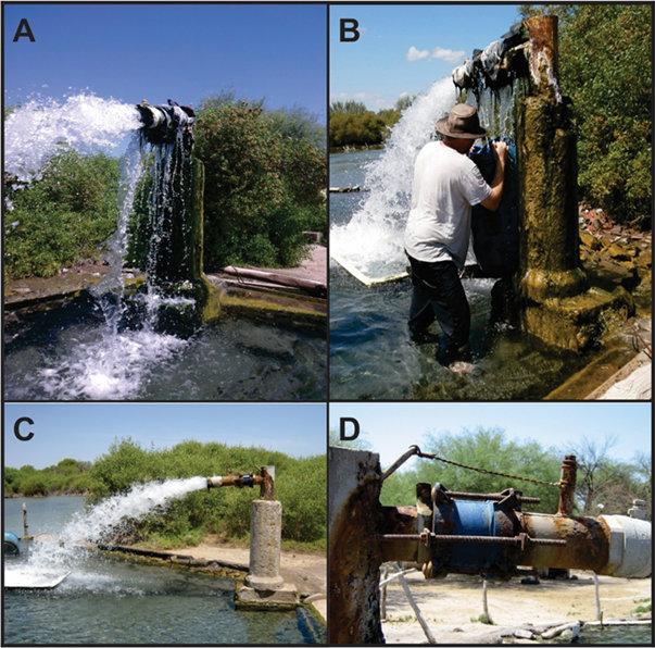 Aforo y fotos de la perforación de El Quicho, córdoba, consultoría geológica, geología