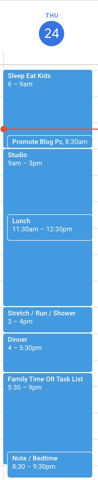 Graham Sedam, blog, thoughts, life, interests, writing, Google Calendar, Time Blocking, Batching, Tim Ferriss, Cal Newport, efficiency, productivity, time management, priorities, goals