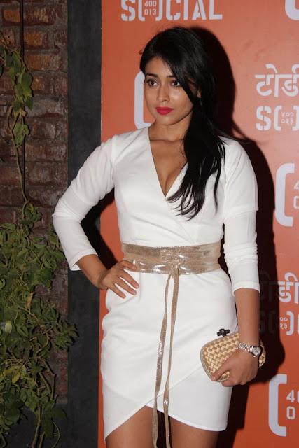 shriya saran looks hot in white dress