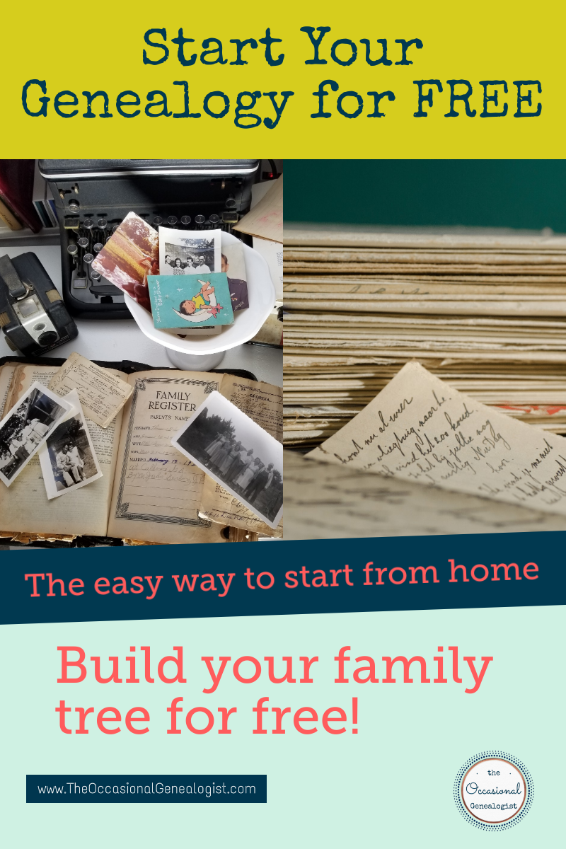 Start Your Family History for Free | The Occasional Genealogist