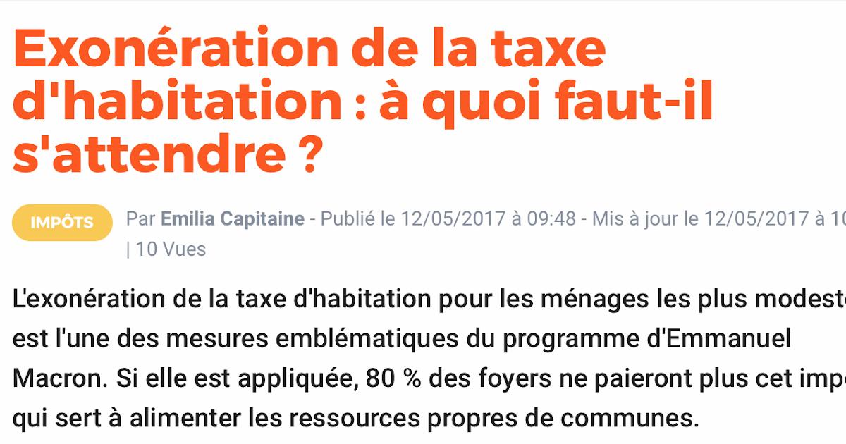 Cafac exon ration de la taxe d 39 habitation - Combien payez vous de taxe d habitation ...