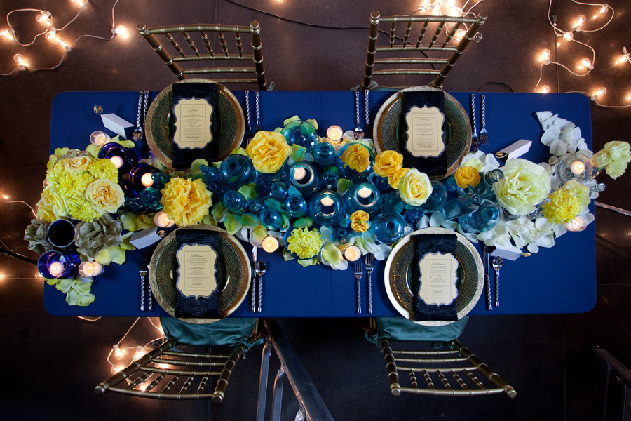 Royal Blue And Yellow Wedding Decor Ideas Art Modern Starry Night Van