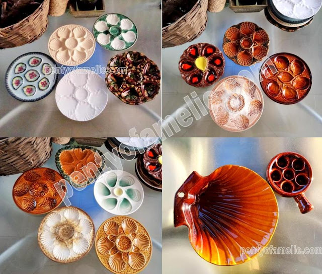 pentyofamelie offers a wide range of french vintage Oyster plates from renowned potteries, produced in the mid-century until late 80s, made in france