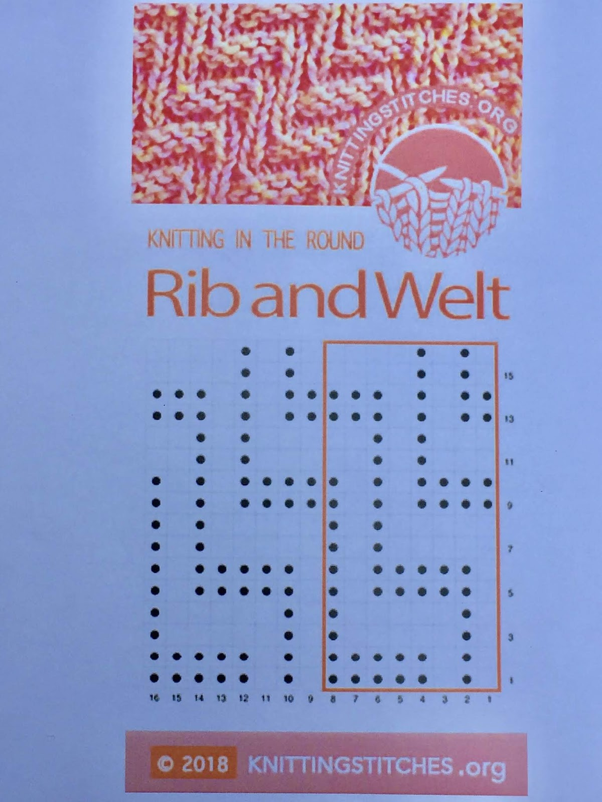 Knitting Stitches 2018 - Rib and Welt in the round