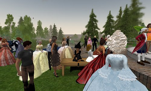 fun gathering at Versailles in Second Life