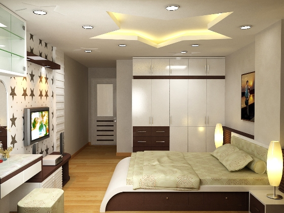 Nội thất phòng ngủ căn hộ THE K PARK