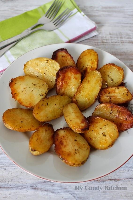 надупени картофи на фурна