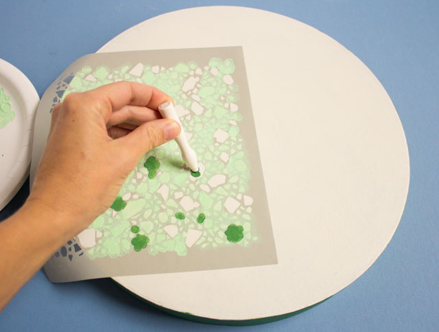 How to make stenciled terrazzo gift boxes #terrazzo